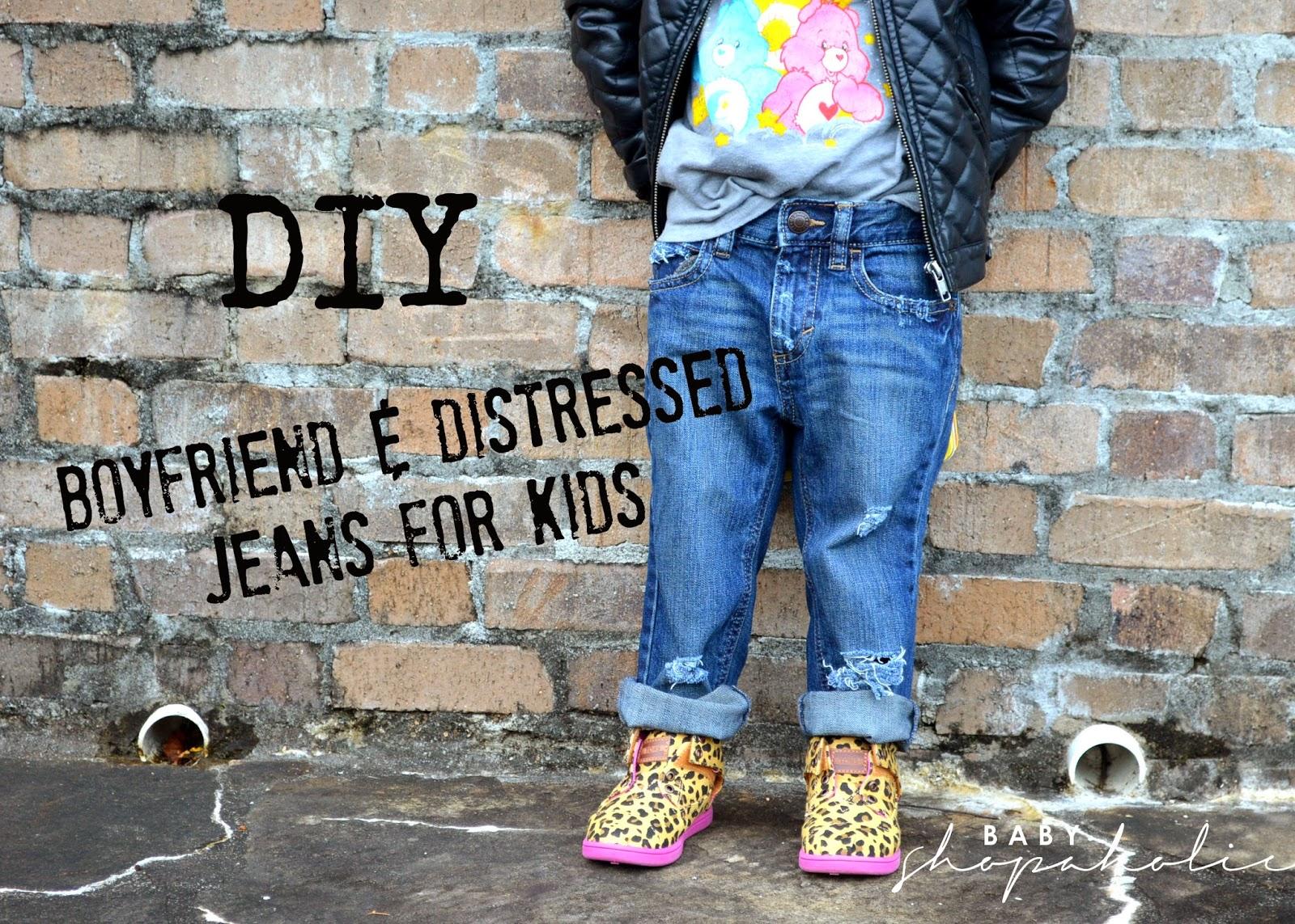 Diy Boyfriend Distressed Jeans For Kids Hey Trina