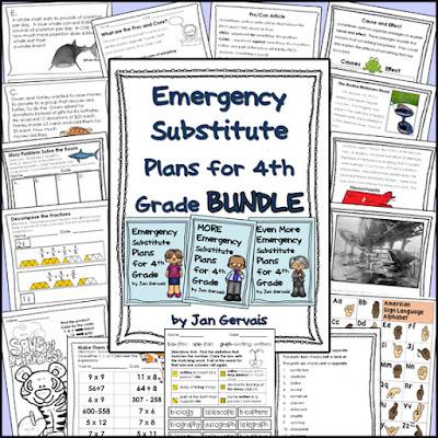 https://www.teacherspayteachers.com/Product/Emergency-Substitute-Plans-for-4th-Grade-BUNDLE-3-Sets-2745497