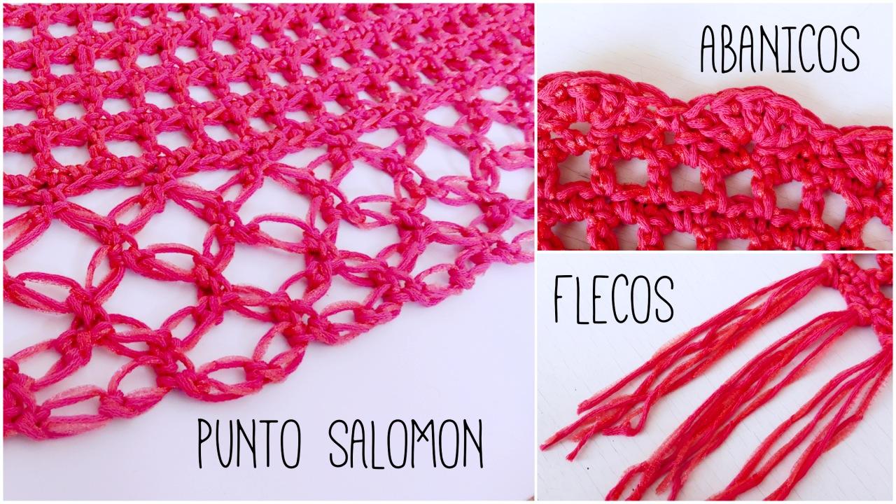 CHAL TRIANGULAR FACIL A CROCHET - Ahuyama Crochet