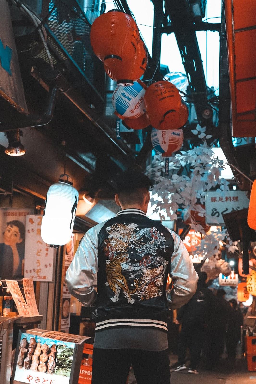 Leo Chan in Shinjuku Omoide Yokocho