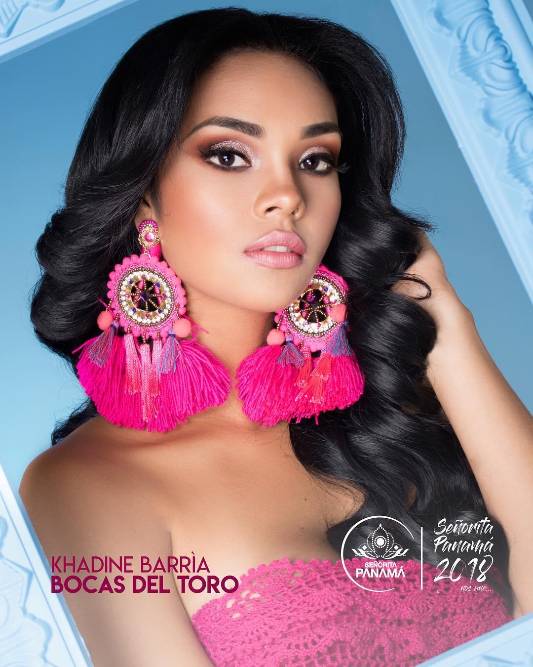 señorita miss colombia 2018 candidates candidatas contestants delegates Miss Bocas del Toro Khadine Barría