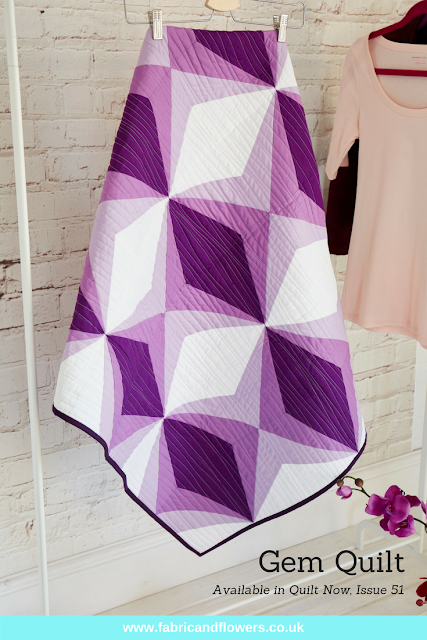 Gem Quilt Pattern in Quilt Now, Issue 51 | fabricandflowers.co.uk
