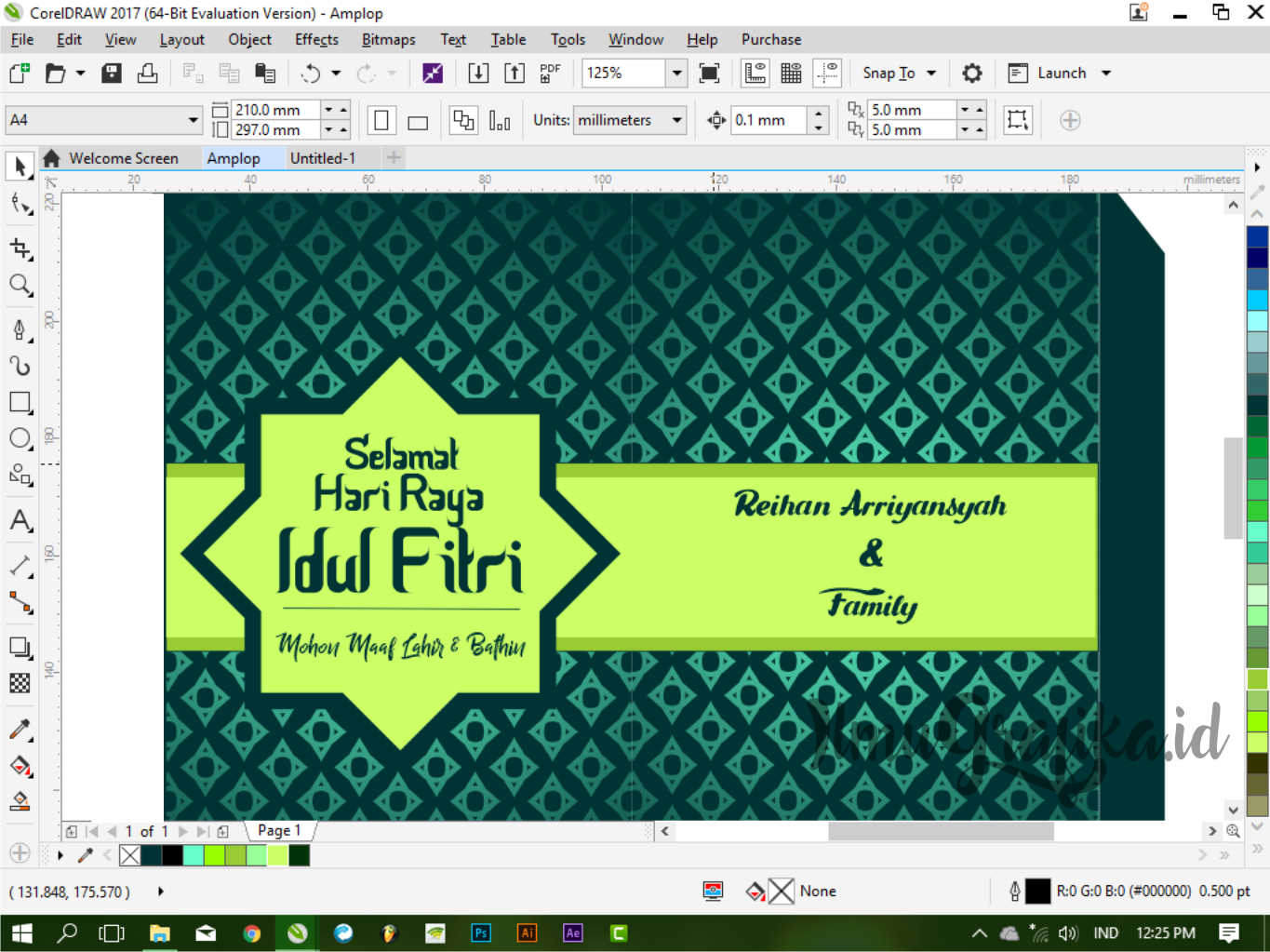 99 Foto Download Desain Amplop Lebaran Word HD Unduh Gratis