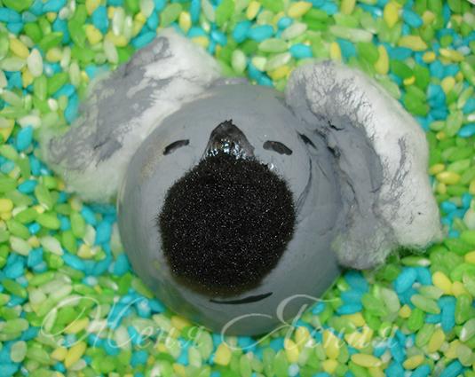 поделки на тему австралия, игрушка коала, сделать коалу