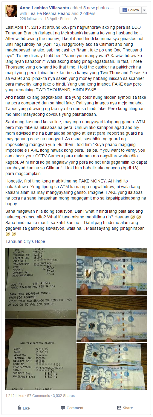 Beware of ATM Machine Issuing - Dispensing Fake Money on Citizens