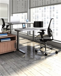 Sit To Stand Classroom Desks at OfficeFurnitureDeals.com