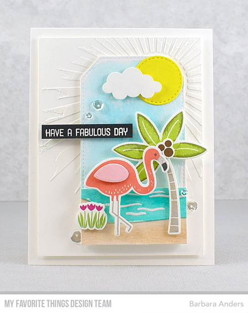 Handmade card from Barbara Anders featuring the August 2017 Release from My Favorite Things #mftstamps