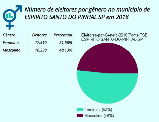 Mulheres são maioria entre os 33.949 eleitores de Espírito Santo do Pinhal