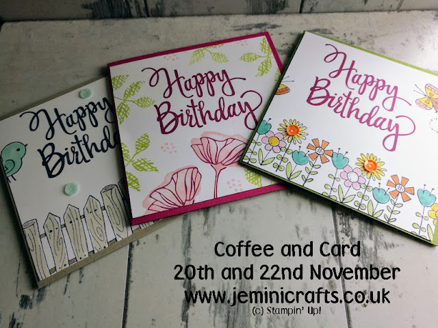 Week long sale of Stampin Up products with Jemini Crafts