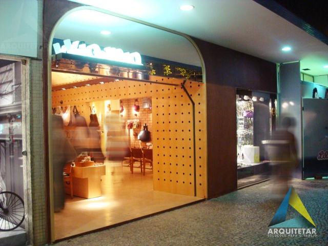 projeto arquitetura fachada loja rua calçados femininos via mia
