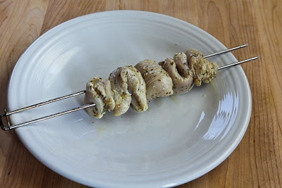 Chicken Souvlaki found on KalynsKitchen.com.