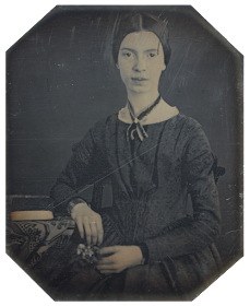 This daguerreotype taken at Mount Holyoke, December 1846 or early 1847 is the only authenticated portrait of Emily Dickinson after childhood. The original is held by Amherst College Archives and Special Collections