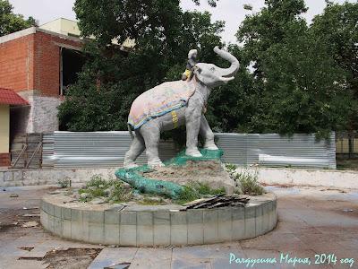 Краснодар фото сквер со слоном