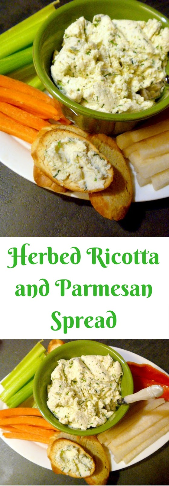 Herbed Ricotta and Parmesan Spread - perfect as an appetizer for game ...