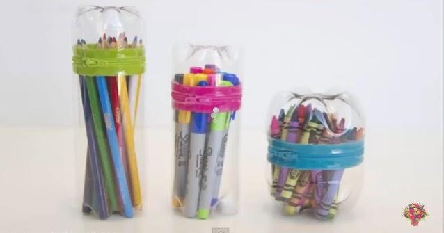 Cara Membuat Tempat Pensil Cantik Dari Botol Bekas - aneka ...
