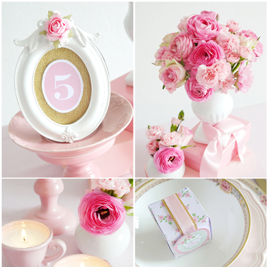 DIY Pink Wedding Ideas & Printables for HGTV