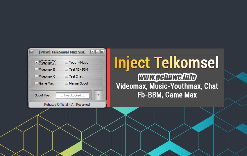 Inject Pehawe Telkomsel Videomax, Music Youthmax & Chat