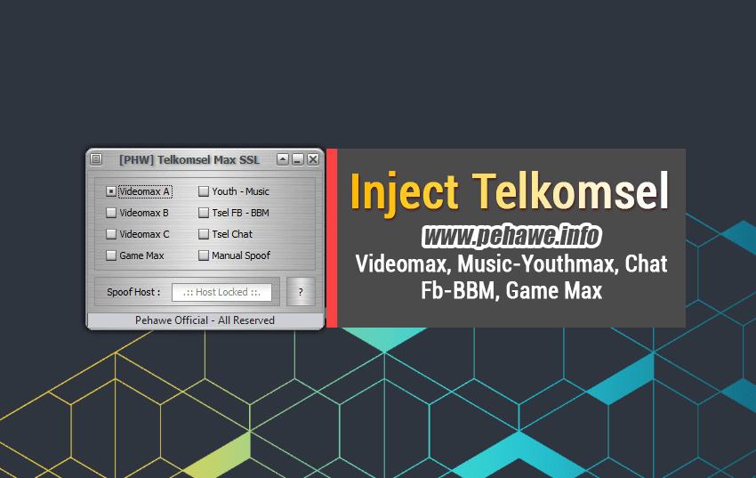 Inject Pehawe Telkomsel Videomax, Music Youthmax & Chat