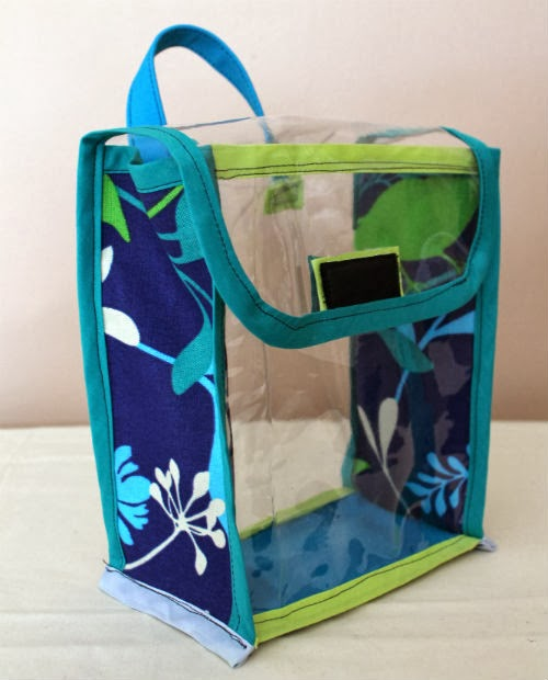 Tutorial: Vinyl Lunch Bag | Learn how to sew a simple to open, clear vinyl lunch/snack bag. | The Inspired Wren