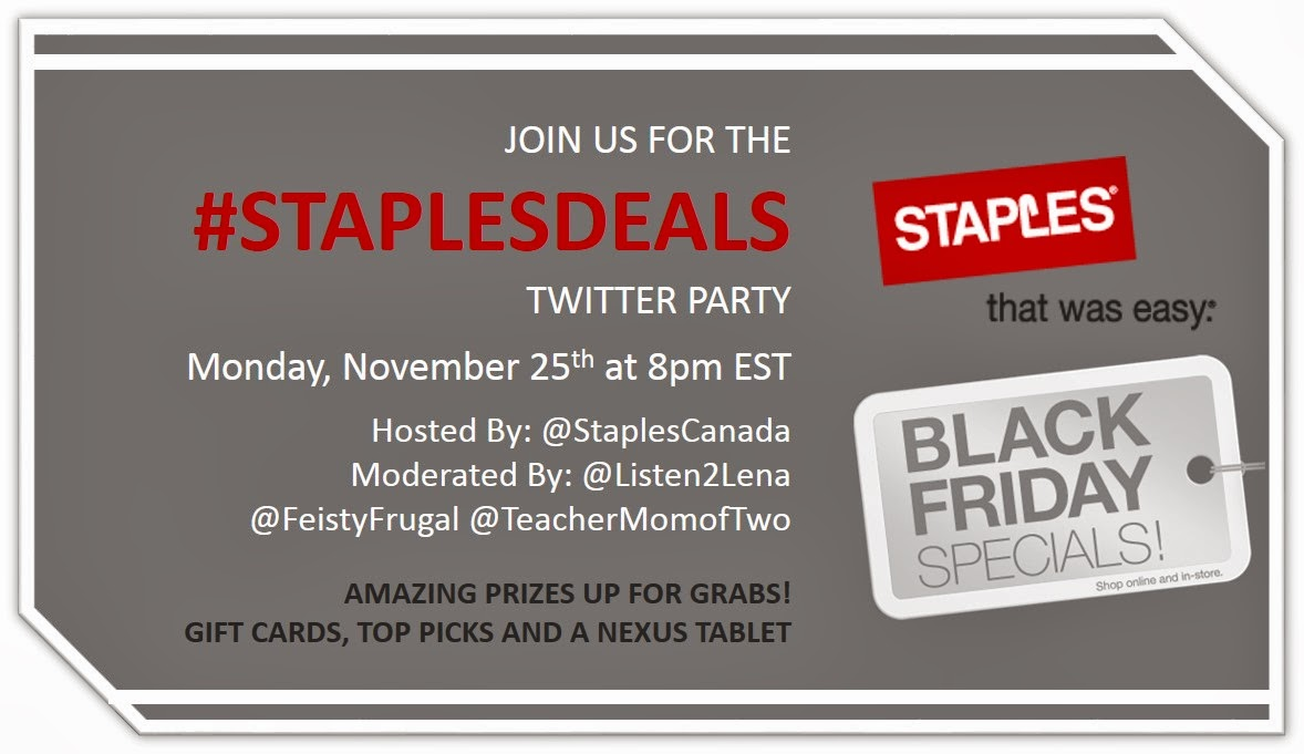 Staples Canada Twitter Party #StaplesDeals