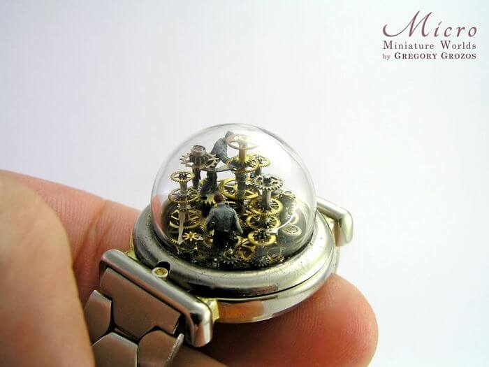 28 Beautiful Pictures Of Pocket Watches Transformed Into Miniature Worlds