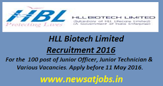 hll+biotech+ltd+recruitment+2016