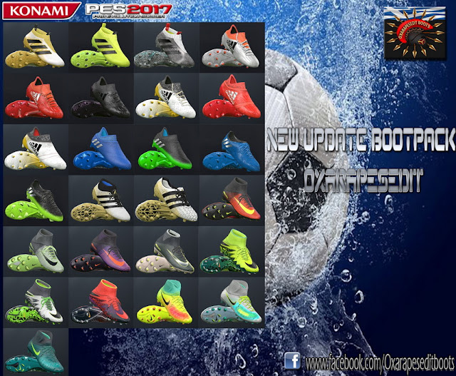 PES 2017 New Updated Boots Pack 2016/17 By Oxarapesedit
