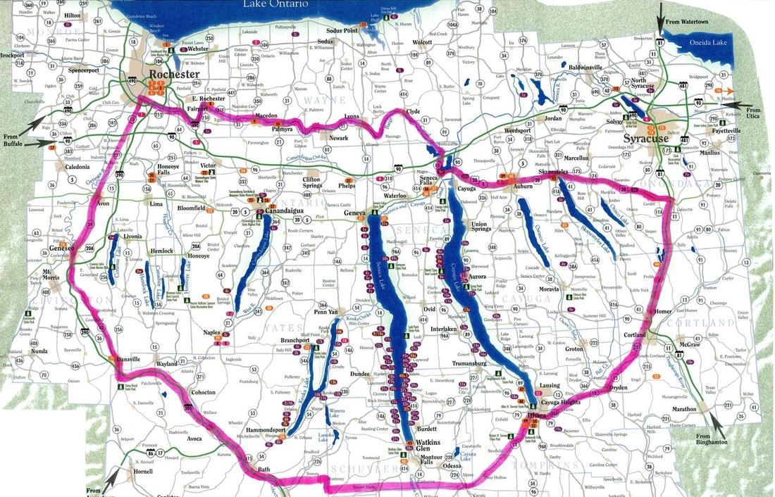 finger lakes map new york The Finger Lakes New York Wine Region Drinksfeed finger lakes map new york