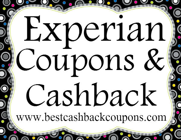 Experian Cashback & Coupons 2016-2017 May, June, July, August, September, October, November, December
