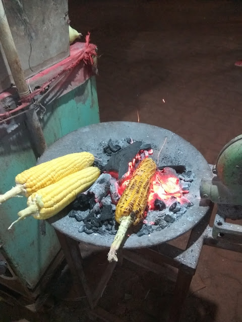 Corn at the main market of Matheran