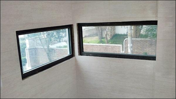 janela de vidro blindado