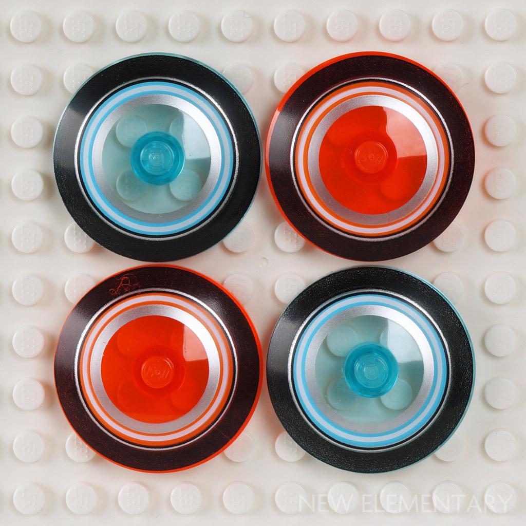 Lego 10 Trans Orange 1x1 round dot plate base NEW