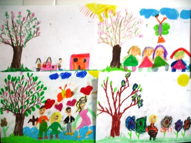 Okulöncesi Etkinlik Paylaşim Ilkbahar Tamamlama Resim çalışması