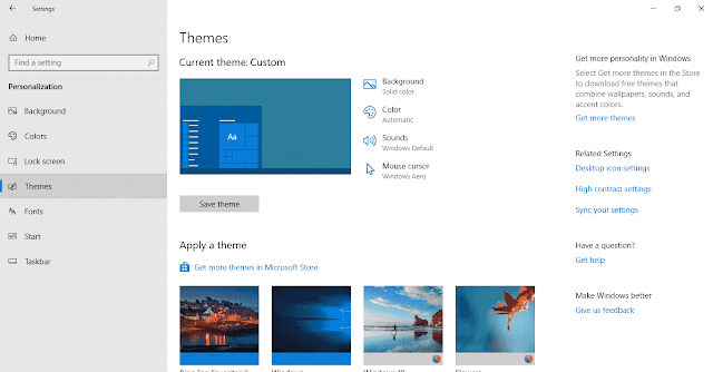 How to Open Themes Settings in Windows 10