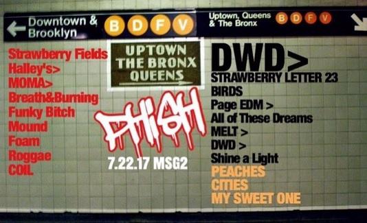Coventry Music Phish Setlist Bakers Dozen MSG 2 7 22 17 Night