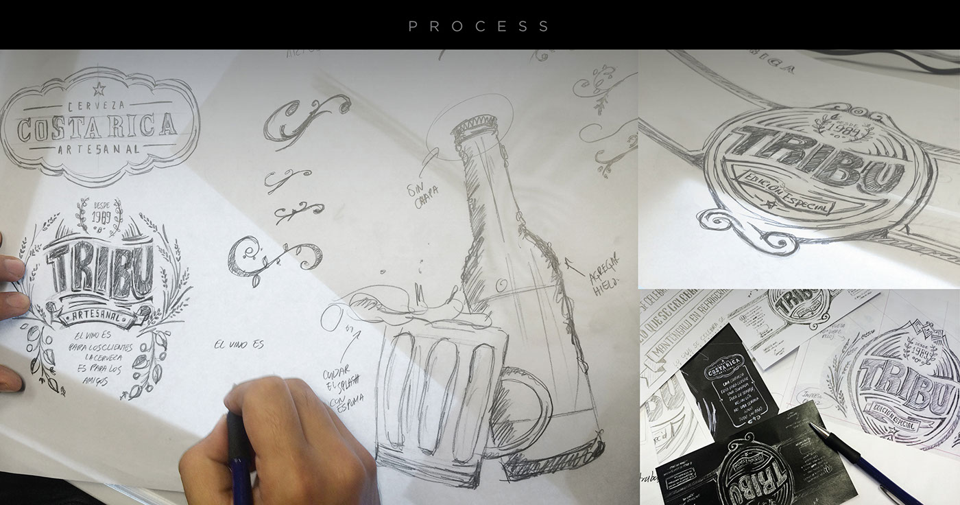 Tribu Beer Sketch Beer