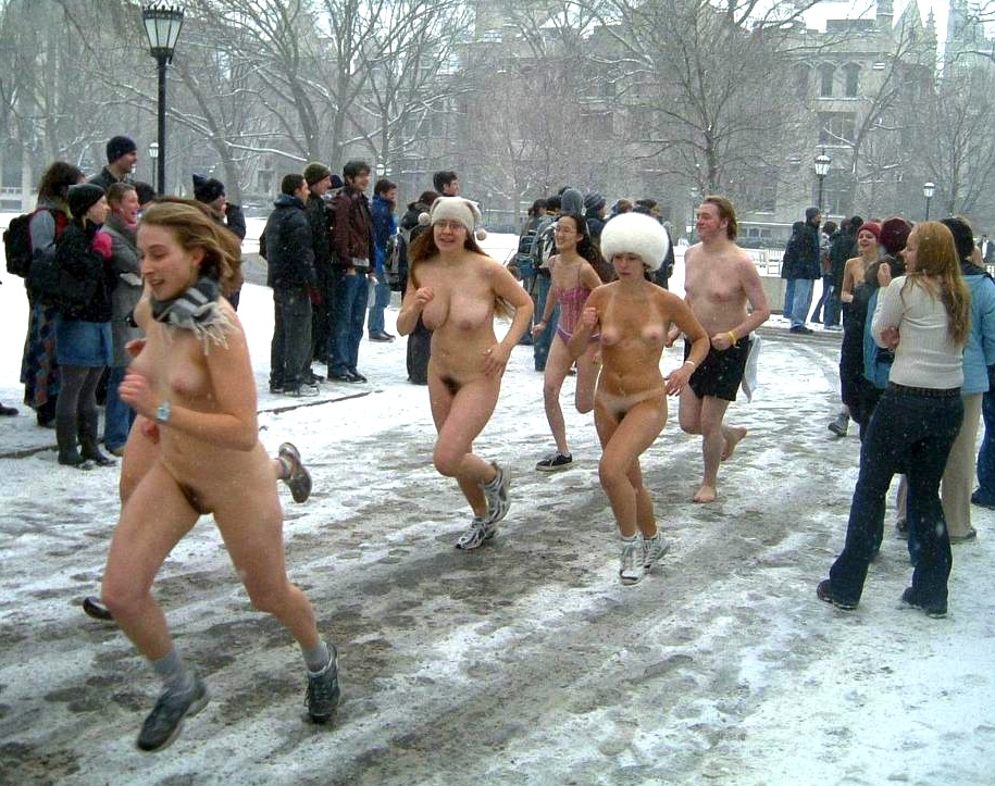 Image of running girl nude