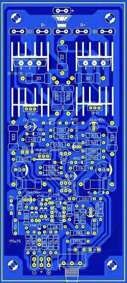 PCB layout power ampli socl