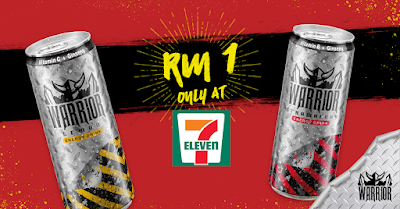 7 Eleven Warrior Sparkling Energy Drink RM1