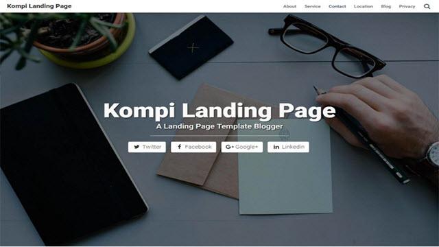 kompi landing page