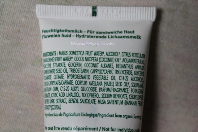 Kibio Velvet Skin Moisturizing Body Milk Inhaltsstoffe