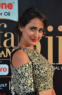 Pragya Jaiswal in Dark Green Embroidery Work Ghagra Choli at IIFA Utsavam Awards 2017  Day 2    04
