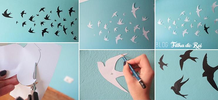 Decoração: Diy Simples para Decorar Paredes com Stencil