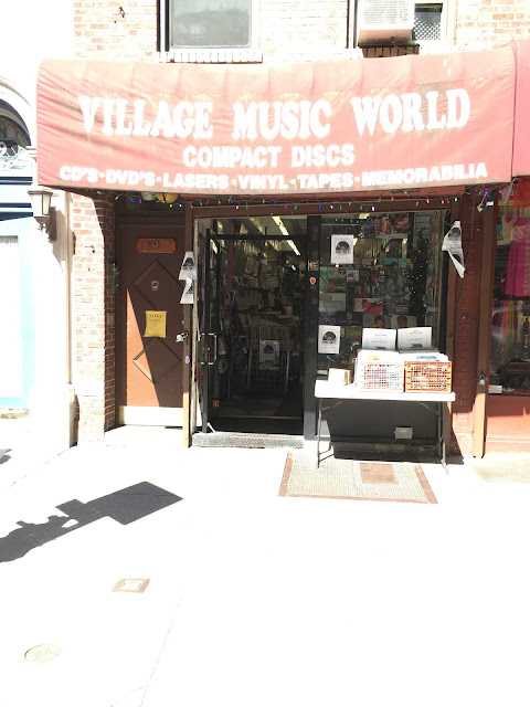 Village Music World Record Store Greenwich Village NY Store Front