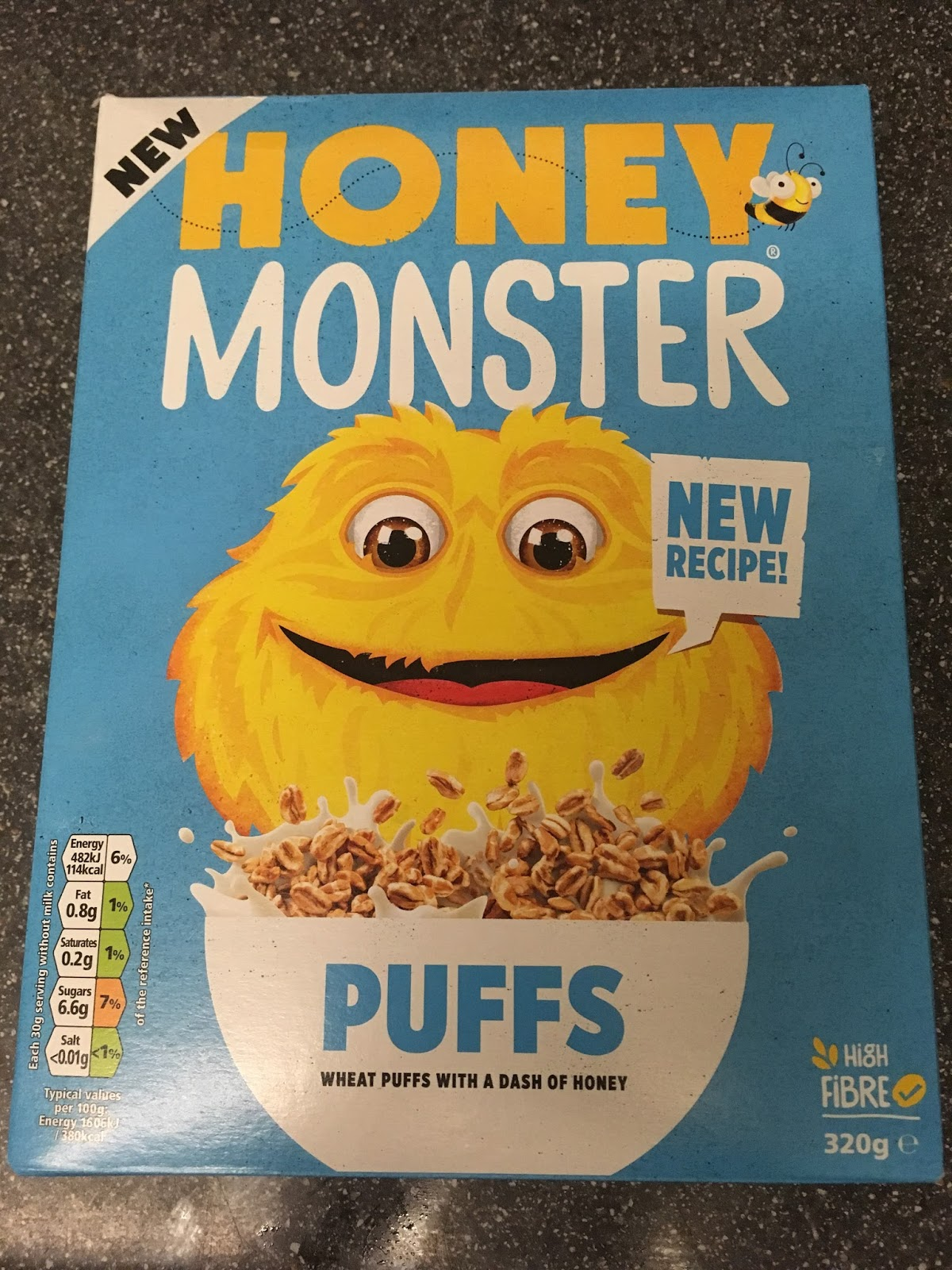 A Review A Day Today S Review Honey Monster Puffs