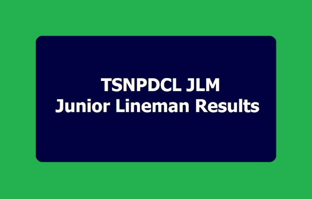 TSNPDCL JLM Junior Lineman Results