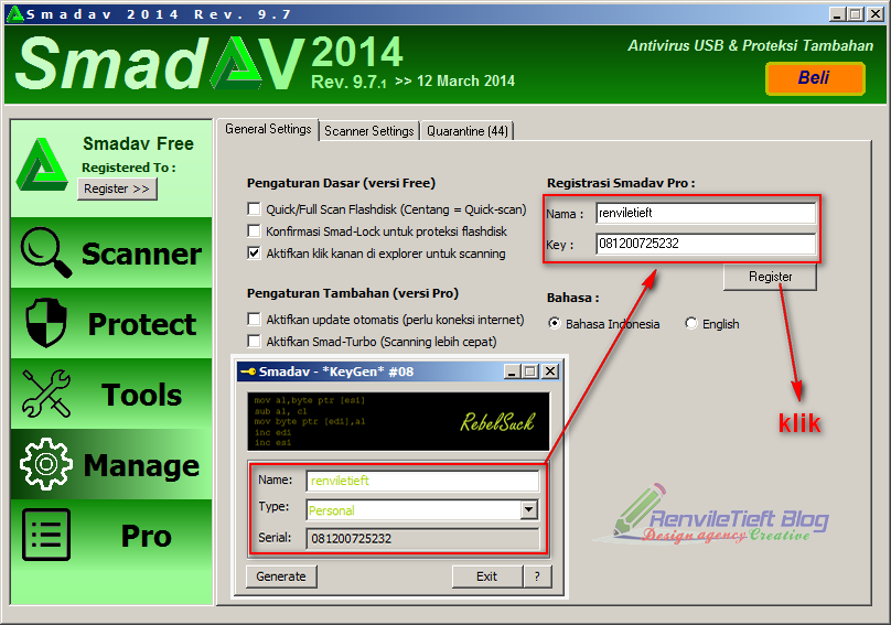 Download Antivirus Smadav Rev 9.8.1 Full Version + Serial ...