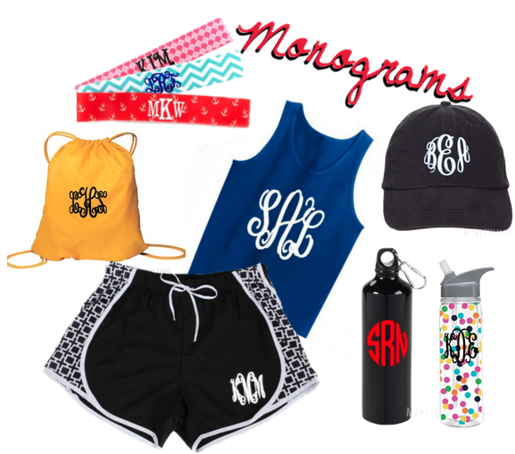 Cute Personalized Items from Marleylilly for the Gym Lover