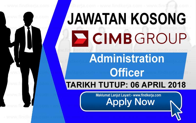 Jawatan Kerja Kosong CIMB Group logo www.findkerja.com april 2018