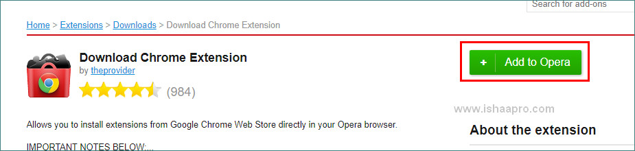 الأن بإمكانك تثبيت الإضافات الخاصة بــ chrome على متصفح opera